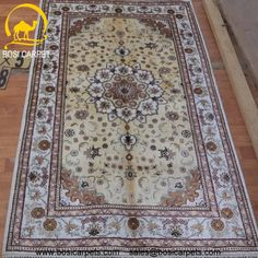 Hand knotted silk rug # Rug No.: P4196 # Quality: 150L (156kpsi) # Size: 3x5ft (91x152cm) # Material: 100% Silk # wholesale Price: $240/piece # If you have any interests, please email to sales@bosicarpets.com        Hand-madecarpet#orienatlrug#oldrug#Kashmirrug#Chinacarpet#Iraniancarpet#boteh#HeratiGul# Isfahan#Tabriz#Qum#Nain#Kashan#Kerman#Bijar#Sarouk#Caucasian#antiquecarpet#bosicarpet