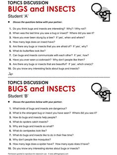 Bugs and Insects, English, Learning English, Vocabulary, ESL, English Phrases, http://www.allthingstopics.com/bugs-and-insects.html