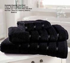 Kensington Egyptian Black Hand Towel Bath Towel &Bath Sheets – Linen and Bedding