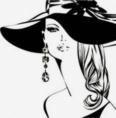 Предпросмотр схемы вышивки «Девушка, черно- белое, волос»