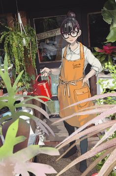 pomodorosa : a garden store: Art And Illustration, Character Illustration, Manga Art, Manga Anime, Anime Art, Photo Print, Estilo Anime, Anime Kunst, Anime Scenery