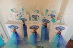Frozen Elsa Anna Paper Tutu Birthday Favor by rizastouchofflair