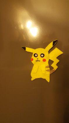 iman nevera de fieltro, pikachu