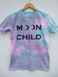Tie Dye Shirt Kawaii Fashion Pastel Goth Moon Child Top
