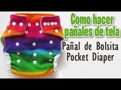 ▶ Como coser pañales de tela (Pañales ecologicos) - YouTube