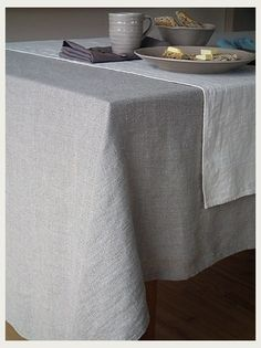 Natural Linen Tablecloth Lara It takes only a tablecloth to convert a regular meal at home into a festive event! This pure linen cream tablecloth is made of garment washed linen which is extremely sof Linen Tablecloth, Table Linens, Tablecloths, Tablecloth Ideas, Bed Linens, Home Recipes, Inspired Homes, Natural Linen, Linen Bedding