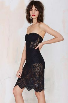 For Love & Lemons Midnight Lace Dress