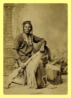 Another fine portrait of Curley, Custers Crow scout. It seems there are more photographs of Curley than Custer himself.