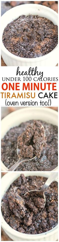 Healthy 1 Minute Tiramisu Cake- Less than 100 calories, fluffy and moist- this delicious tiramisu cake is gluten free and comes with a tested vegan, high protein and paleo option- Oven version too! - thebigmansworld.com