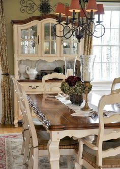 Paint Dining Table And Chairs With Rustoleum 2X Cranberry Color Delectable Painted Dining Room Table Ideas Decorating Inspiration