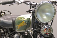 """Panther 1934 """" Model 100"""" 598cc OHV single frame # 10495 engine # M5385 P&M motorcycles were produced for more than 60 years; the last 650 cc sloping engine singles left the Cleckheaton (Yorkshire) factory in 1966. The name """" Panther"""" was added during the 1920s. Many different models were made, but the typical Panther ... Read more"""