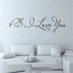I Love You Removable Art Vinyl Mural Home Room Decor Wall Stickers For Living Room for kids rooms adesivos de parede Wall Stickers Home, Wall Stickers Murals, Wall Murals, Art Vinyl, Vinyl Wall Quotes, Wall Sayings, Asian Home Decor, Unique Home Decor, Cadeau St Valentin