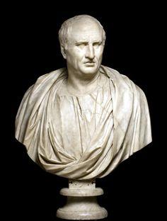 Roman. Portrait of Cicero. 1st century AD. Marble. Hall of the Philosophers, Palazzo Nuovo, Musei Capitolini. Roma, Italia.