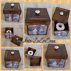 Box Porta Papel Higiênico - Fleur de Lis