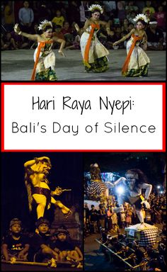 Hari Raya Nyepi: Bali's Day of Silence. A night when demons roam the streets, a day when nothing stirs. Read what it's like to experience Bali's Nyepi. Semarang, Lombok, Festivals Around The World, Travel Around The World, Ubud, Jakarta, Travel Tips, Travelling Tips, Travel Plan