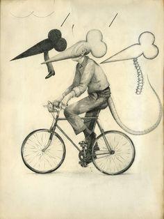 Eric Timothy Carlson, 'Flat Black Rat Bike No Pedestrian Nerve Column,' 2015, Patrick Parrish Gallery