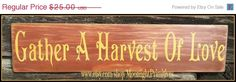 ON SALE Gather A Harvest Of Love Autumn by MoonlightPrimitives, $20.00