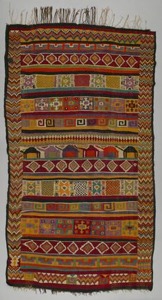 Kilim from Gafsa in central Tunisia, N Africa. 1930-50, wool // from the Opekar/Webster Collection via Textile Museum of Canada