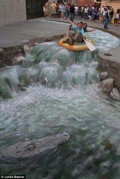 Julian Beever, pavement art