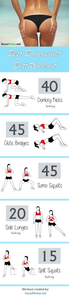 This home butt workout will help you build a bigger, firmer and rounder butt without weights or any equipment #butt #workout #focusfitness