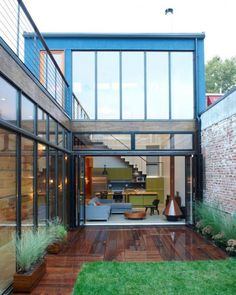 Atrium House by MESH Architectures - Brooklyn, NY