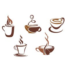Coffee Cup Designs - These will work, too, Jennifer!