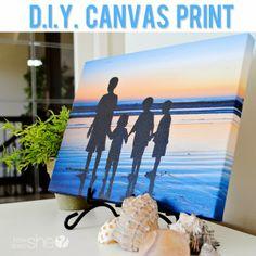 DIY Canvas Prints Tutorial