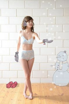 Love this retro-chic lingerie set by Gal Angel for Ugly Duckling