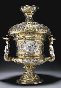 A German parcel-gilt silver display vase, Nicolas Ostertag, Augsburg, 1689-1692 | Lot | Sotheby's