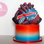 Buffalo Bills football cake and blog post with work in progress pics