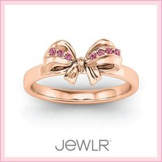 Designed as a flowing bow and prong-set with accents. Personalize this unique and delicate ring with your choice of metal, stones and engravings. Bow Jewelry, Cute Jewelry, Jewelery, Jewelry Accessories, Jewelry Bracelets, Personalized Promise Rings, Personalized Jewelry, Mother Rings, Golden Jewelry