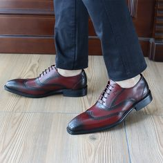 Aliexpress Felix Chu Fashion Italian Style Men Round Toe Dress Shoes Oxford Genuine Leather Brogue Wine Red Formal Office 1815 928 From