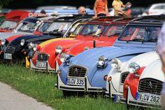 #2CV Citroën • #Ente • bunte Entenaufstellung