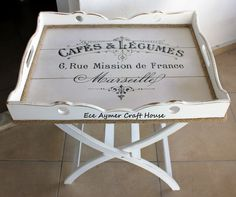 Lap Table, Tv Tray Table, Diy Art Projects, Wooden Art, Creative Crafts, Vintage Wood, Home Crafts, Painted Furniture, Trays