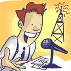 Radio guy clipart.