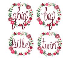 Big/Little/Twin/Glittle/Gbig Floral Wreath Shirt by RlittleCO Sorority Canvas, Sorority Paddles, Sorority Recruitment, Sorority Life, Little Company, Sorority Big Little, Big Little Reveal, Big Little Gifts, Cooler Painting