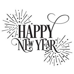 Silhouette Design Store: Happy New Year Fireworks - Tanja Thome - Holidays Happy New Year Letter, Happy New Year Message, Happy New Year Images, Happy New Year Quotes, Happy New Year Cards, Happy New Year Wishes, Quotes About New Year, Happy New Year Logo, Happy Holidays Images