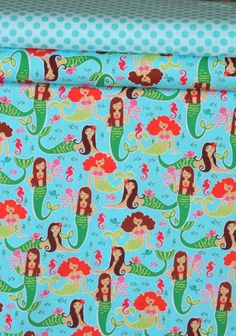 Michael Miller Sea Beauties fabric. Really wish I hadn't seen this