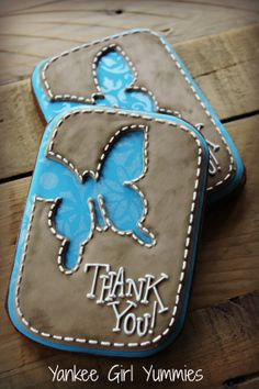 Thank you cookies by Yankee Girl Yummies.