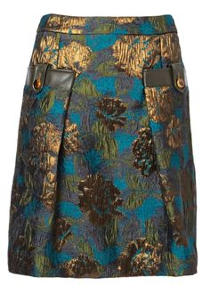 Matthew Williamson: ornate-brocade-tailored-skirt