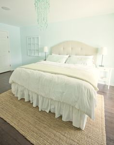 Jenna Sue: DIY Upholstered tufted headboard- THE best tutorial for a padded head board I have ever seen!!!