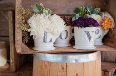 LOVE Mugs as vases