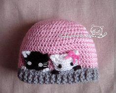 Curious Kitties Hat Size New Born  Teen Instant von CathyrenDesigns, $3.99
