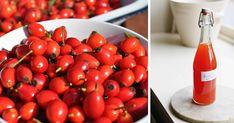 Zdravý sirup z čerstvých šípok nielenže príjemne chutí a osvieži, ale pomôže aj našej imunite! Drinking, Vegetables, Recipes, Food, Ale, Syrup, Beverage, Drink, Essen