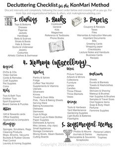 Excited to use this free printable decluttering checklist for the KonMari Method of discarding and organizing! It includes ALL the categories in a handy checklist to kickstart your decluttering and organization spree. Love this series! Home Organisation, Life Organization, Cleaning Cupboard Organisation, Household Organization, Declutter Your Home, Organizing Your Home, Organising, Organizing Tips, Declutter Books