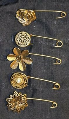 Assorted Contemporary Hijab Pins (Set of 5) by Zaffron Hijabs and Hijab Accessories, $5.99 + $4.99 shipping