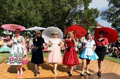 Ladies dressed in 1950s wear at the Kurri Kurri Nostalgia Festival