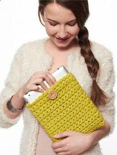 Tablet Cover | Yarn | Free Knitting Patterns | Crochet Patterns | Yarnspirations