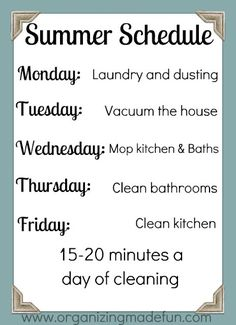 day2day SuperMom: Find YOUR Perfect Cleaning Routine ~ SuperMom Monday