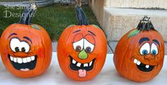 Halloween Pumpkin Faces | She Simply Designs